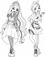 Free Printable Ever After High Coloring Pages Holly And Poppy O