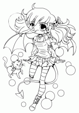 14 Pics of Chibi Vampire Girl Coloring Pages - Anime Chibi Vampire ...