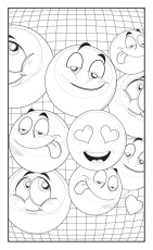 Emoji Love Coloring Book 30 Cute Fun Pages: For Adults, Teens and Kids  Great Party Gift (Travel Size) (Color… | Emoji coloring pages, Coloring  books, Coloring pages