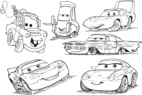 Disney Cars | Free Coloring Pages on Masivy World