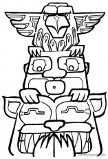 Printable Totem Pole Faces for Pinterest