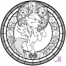 Rainbow Dash Rainbow Rocks Coloring Pages My Little Pony Baby ...