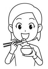 Coloring Page rice - free printable coloring pages