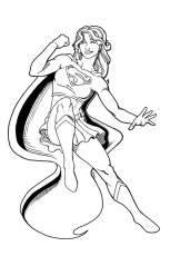 Supergirl Inks By Tyrannus Jpg Super Girl Coloring