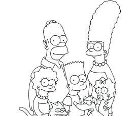 Simpsons Coloring Pages Collection - Whitesbelfast.com