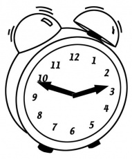 Clocks coloring pages