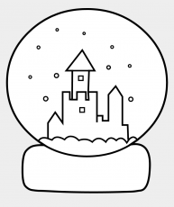 Cute Snow Globe Coloring Page - Winter Snow Globes Colouring, Cliparts &  Cartoons - Jing.fm