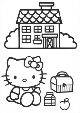 Hello Kitty Coloring Pages Coloring Page For Kids | Kids Coloring
