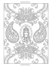 Mehndi Coloring Page - Coloring Home