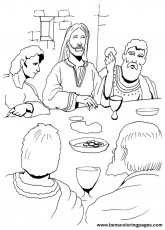 The last supper coloring page.