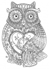 14 Pics Of Abstract Owl Coloring Pages  Adult Coloring Pages Owls