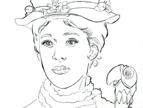mary poppins coloring pages printables