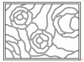 Starry Night Stained Glass coloring page | Free Printable Coloring ...