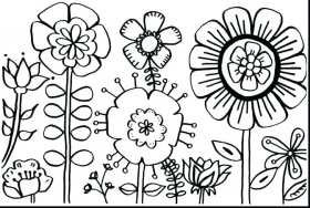 large flower coloring pages – move2europe.co