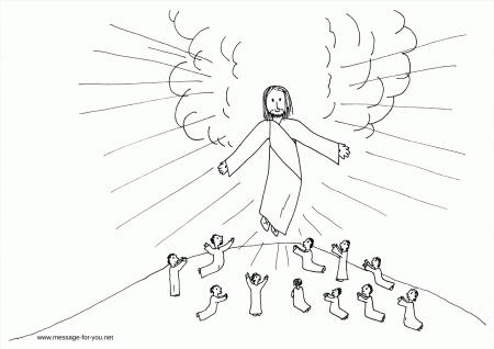Jesus Ascension Coloring Page Jesus Ascension Coloring Page
