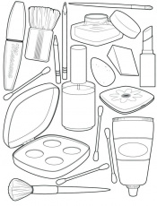 Coloring Pages : Staggering Makeup Coloring Pages Photo Inspirations Face Makeup  Coloring Pages For Teens' Coloring Pages' Free Printable Makeup Coloring  Pages To Print or Coloring Pagess