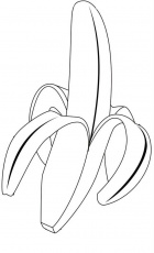 Banana Color Page Banana Color Page Banana Coloring Pages Print