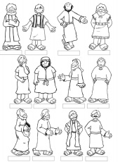 Twelve Disciples Coloring Sheets - Google Twit