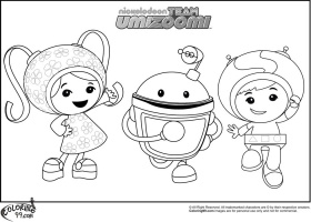 free printable team umizoomi coloring pages for kids - coloring home - Team Umizoomi Bot Coloring Pages