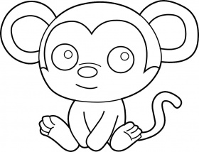 Animal drawings coloring pages red howler monkey animal for Howler monkey coloring page