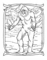 Bigfoot - Coloring Pages for Kids and for Adults