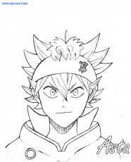 Black Clover coloring pages - Printable coloring pages