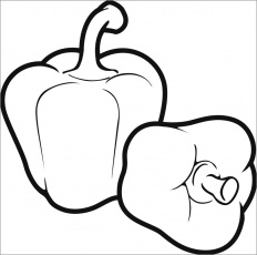 Pepper Coloring Pages - ColoringBay
