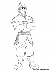 Kristoff - Frozen Coloring Pages