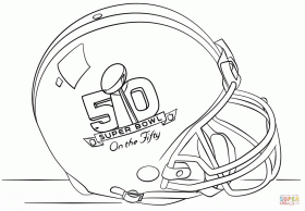 Super Bowl 2016 Helmet coloring page