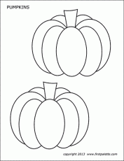 Pumpkins | Free Printable Templates & Coloring Pages | FirstPalette.com