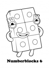 Numberblocks 6 Coloring Page - Free Printable Coloring Pages for Kids