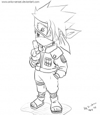 Kakashi Chibi Coloring Pages
