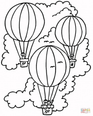 Simple Hot Air Balloon coloring page | Free Printable Coloring Pages