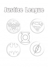 Justice League Member Logo Coloring Page - NetArt