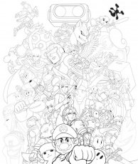 Super Smash Bros. - Coloring Pages For Kids And For Adults ...
