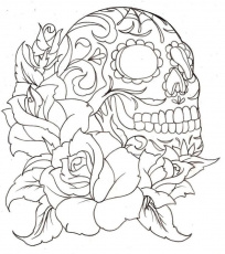Sugar Skull - Coloring Pages for Kids and for Adults