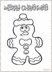 Funny Christmas Cookies Coloring Pages for Kids Free Printable ...