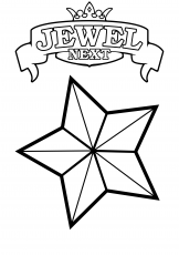 Stars Coloring Pages Jewel Next | Print Coloring Pages (1 Pictures ...