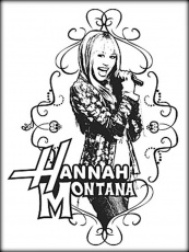 Hannah Montana Coloring Pages For Girls - Color Zini