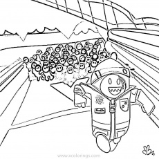 Fall Guys Coloring Pages Running ...xcolorings.com