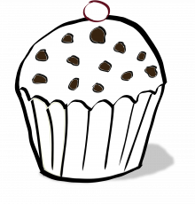 Chocolate Chips Muffin Coloring Book SVG colouringbook.org