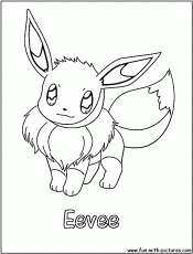 Pokemon Printable Coloring Pages Eevee Eevee Evolutions Coloring ...