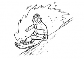 Coloring Page snowboarding - free printable coloring pages