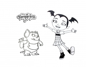 Fresh Vampirina Coloring Pages Free ... | Disney embroidery ...