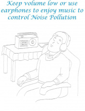 Controlling Noise Pollution Coloring Page