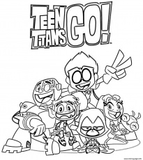 Teen Titans Go Cartoon Coloring Pages Printable