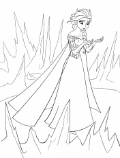 Walt Disney Coloring Pages - Queen Elsa - Walt Disney Characters Photo  (38137293) - Fanpop