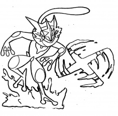 Greninja Pokemon Coloring Pages