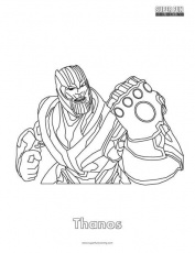 Thanos Fortnite Coloring Page - Super Fun Coloring