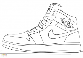 Coloring Pages : Nikeng Pages Jordan Shoes Scbu Sneakers ...